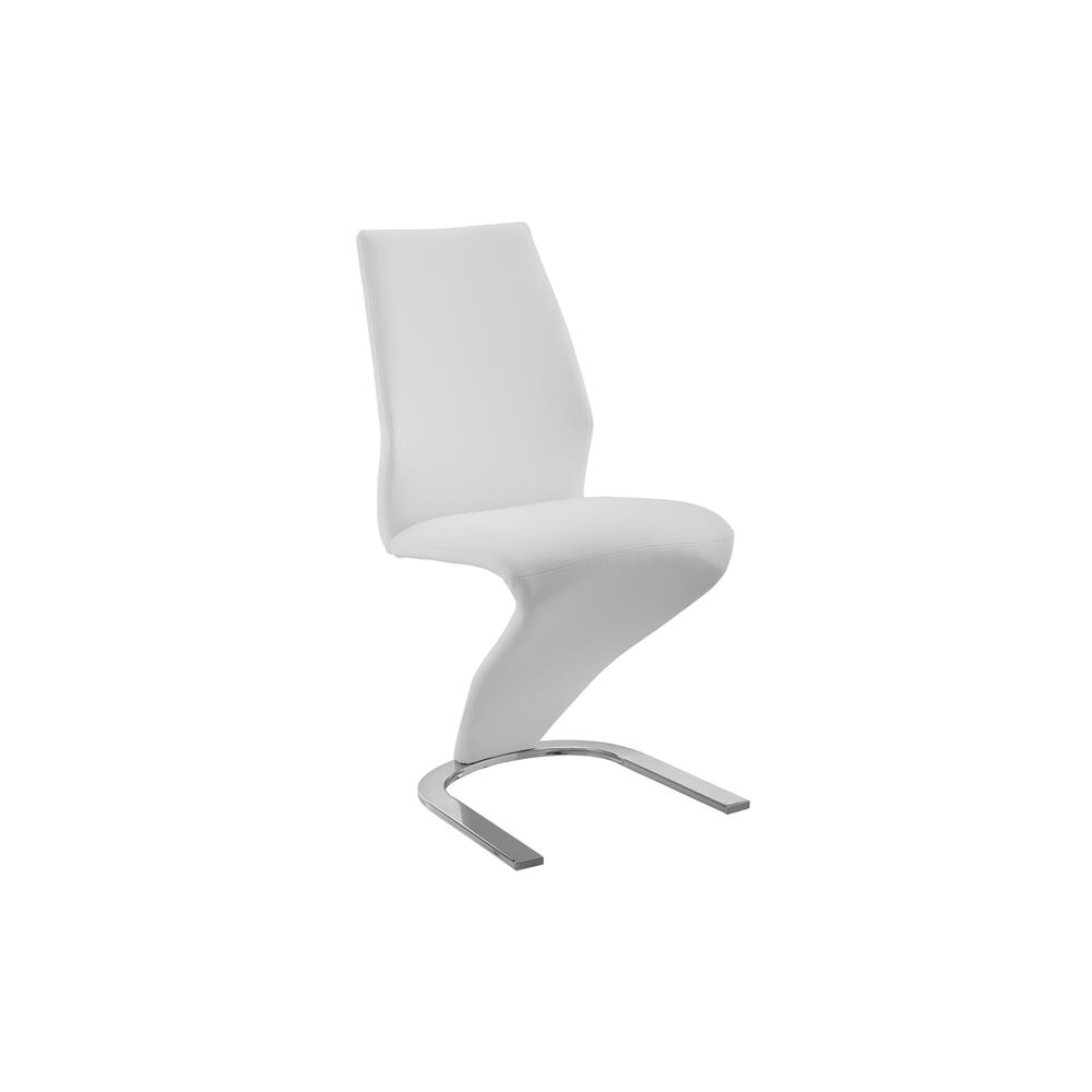 The Boulevard White Eco-leather Dining Chairs