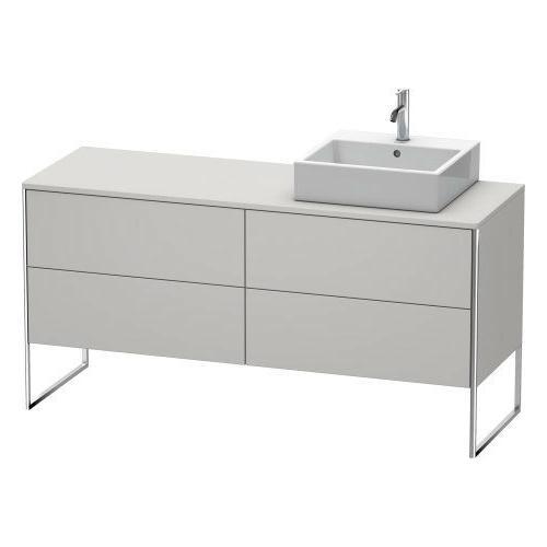 Vanity Unit For Console Floorstanding, Nordic White Satin Matte (lacquer)