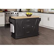 See Details - Brigham Kitchen Island In Black With Natural Wood Top