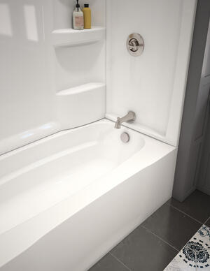 White ProCrylic 60 in. x 32 in. Bathtub Surround Product Image