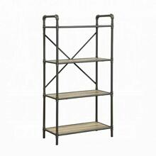 ACME Itzel Bookshelf - 97163 - Antique Oak & Sandy Gray