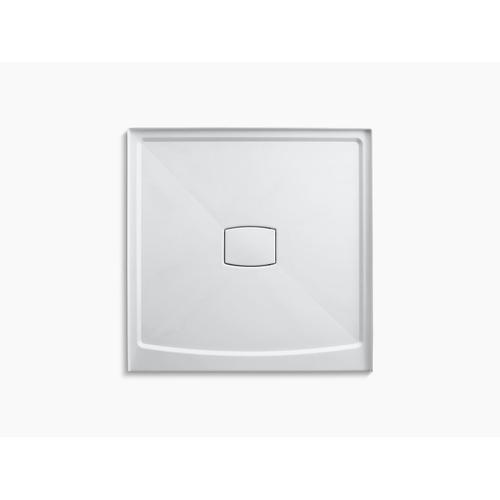 """Kohler - White 48"""" X 48"""" Single Threshold Center Drain Shower Base With Removable Cover"""
