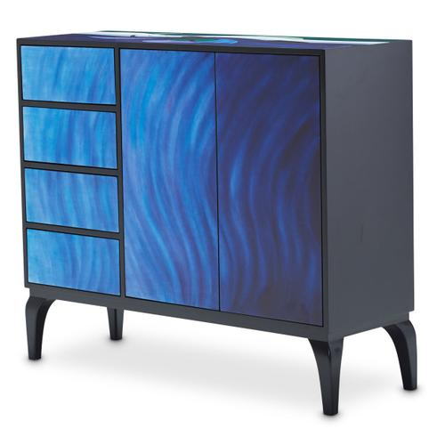 Blue Waves Cabinet
