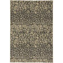 "Leopard Charcoal - Rectangle - 5'3"" x 7'6"""