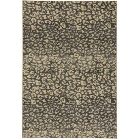 "Leopard Charcoal - Rectangle - 5'3"" x 7'6"""