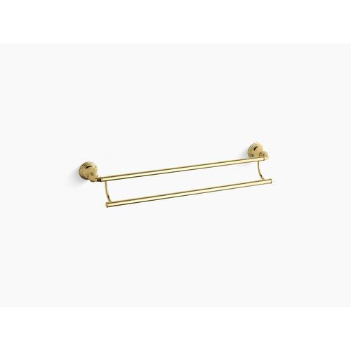 "Kohler - Vibrant Polished Brass 24"" Double Towel Bar"