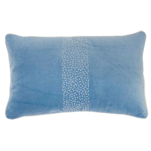 "Life Styles Az466 Blue 12"" X 20"" Throw Pillow"