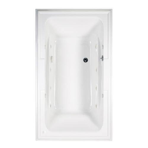 Town Square 72x42 inch EcoSilent Combo Massage Tub - Arctic White