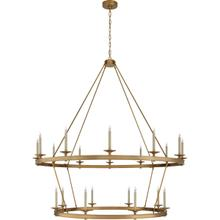 View Product - Chapman & Myers Launceton 20 Light 64 inch Antique-Burnished Brass Two Tiered Chandelier Ceiling Light, XXL