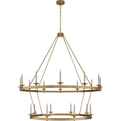 Visual Comfort - Chapman & Myers Launceton 20 Light 64 inch Antique-Burnished Brass Two Tiered Chandelier Ceiling Light, XXL