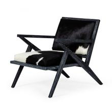 View Product - Modrest Hallam - Glam Black and White Cowhide Accent Chair