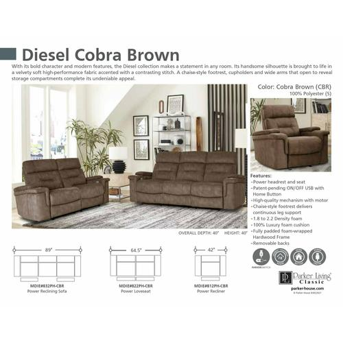 Parker House - DIESEL - COBRA BROWN Power Reclining Collection