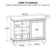 TS46F Custom TV Console Product Image
