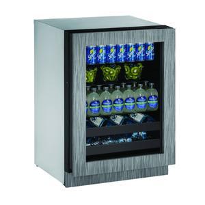 """U-Line2224bev 24"""" Beverage Center With Integrated Frame Finish and Field Reversible Door Swing (115 V/60 Hz Volts /60 Hz Hz)"""