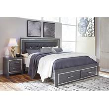 B214 King Storage Bed (Lodanna)