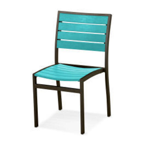 Polywood Furnishings - Eurou2122 Dining Side Chair in Textured Bronze / Aruba