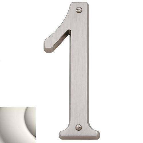 Polished Nickel House Number - 1