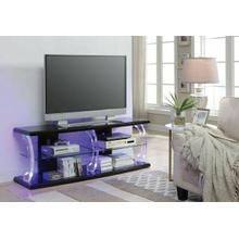 ACME Aileen TV Stand (LED), Black & Clear Glass - 91560
