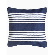 """See Details - Mariona Stripe Indoor Outdoor Decorative Pillow - Blue And White (20"""" x 20"""")"""