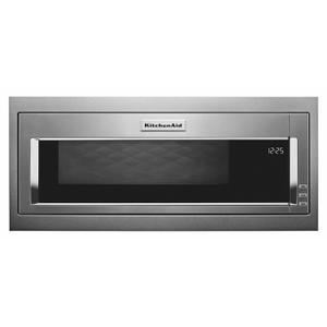 KitchenAid1000 Watt Built-In Low Profile Microwave with Slim Trim Kit - Stainless Steel