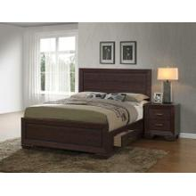 View Product - Fenbrook Transitional Dark Cocoa Eastern King Five-piece Set