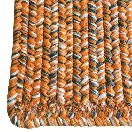 Team Spirit Orange Grey Braided Rugs