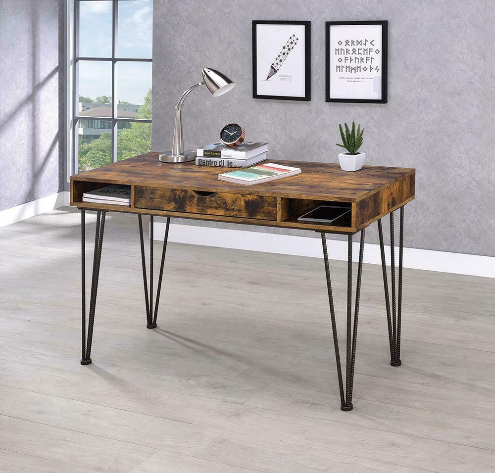 Industrial Antique Nutmeg Writing Desk