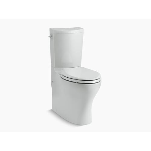 Ice Grey Two-piece Elongated Dual-flush Chair Height Toilet