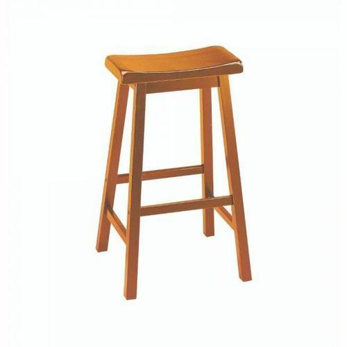 "ACME Gaucho Bar Stool (Set-2) - 07307 - Oak - 29"" Seat Height"