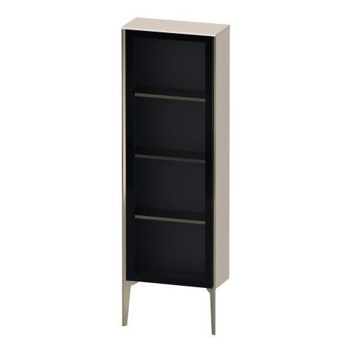 Semi-tall Cabinet With Mirror Door Floorstanding, Taupe Matte (decor)
