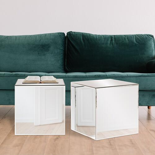 Howard Elliott - Mirrored Cube Table