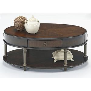 Castered Oval Cocktail Table - Regent Cherry Finish
