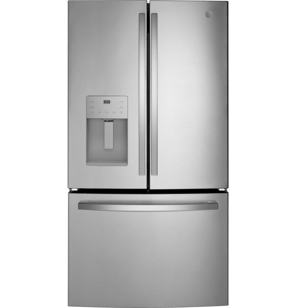 GEGe(r) Energy Star(r) 25.6 Cu. Ft. Fingerprint Resistant French-Door Refrigerator
