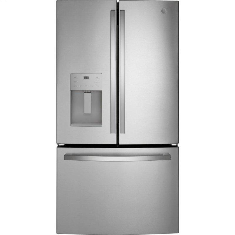 GE(R) ENERGY STAR(R) 25.6 Cu. Ft. Fingerprint Resistant French-Door Refrigerator