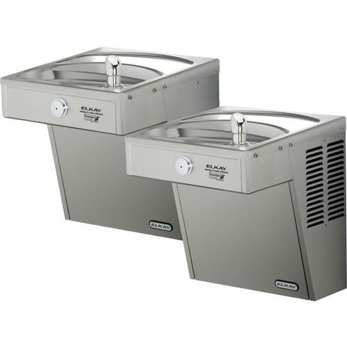 Elkay Cooler Wall Mount Bi-Level ADA Frost Resistant, Vandal-Resistant Non-Filtered Non-Refrigerated Stainless