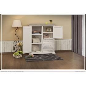Terra 3 Drawer, 2 Door Gentleman's Chest White