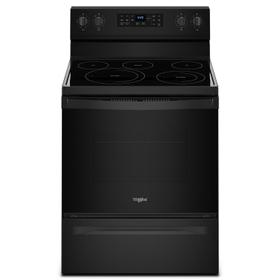 5.3 cu. ft. Whirlpool® electric range with Frozen Bake™ technology Black