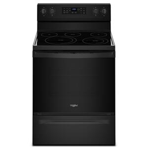 Whirlpool5.3 cu. ft. Whirlpool® electric range with Frozen Bake™ technology Black