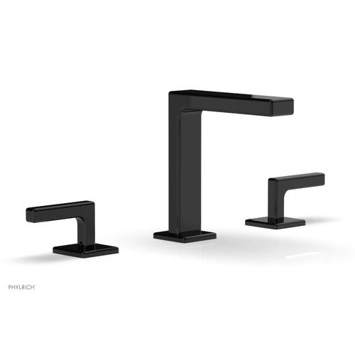 """MIX Widespread Faucet - Lever Handles 6-3/4"""" Height 290-02 - Gloss Black"""