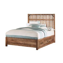Queen Elevator Slat Bed with 2 Sides storage