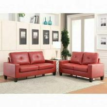 ACME Platinum II Sofa & Loveseat - 52745 - Red PU