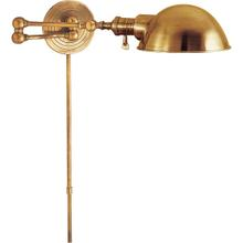 E. F. Chapman Boston 23 inch 60.00 watt Hand-Rubbed Antique Brass Swing-Arm Wall Light