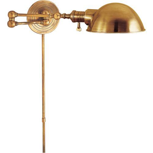 E. F. Chapman Boston 23 inch 60.00 watt Hand-Rubbed Antique Brass Swing-Arm Wall Light