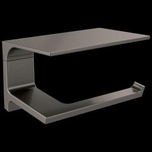 Black Stainless Tissue Holder with Shelf Product Image