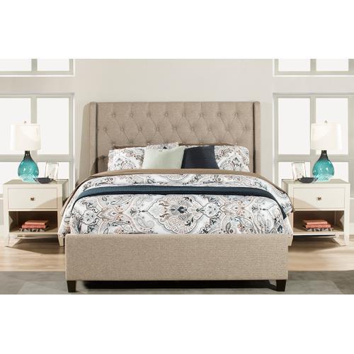 Churchill Queen Bed - Natural Herringbone