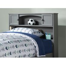 Newport Bookcase Headboard Full Atlantic Grey