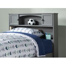 View Product - Newport Bookcase Headboard Full Atlantic Grey
