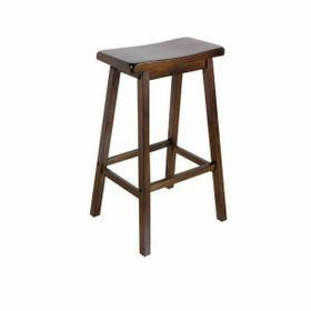 "ACME Gaucho Bar Stool (Set-2) - 07306 - Walnut - 29"" Seat Height"