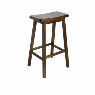 "ACME Gaucho Bar Stool (Set-2) - 07306 - Walnut - 29"" Seat Height"