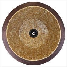 Small Round Flat Bottom Mosaic